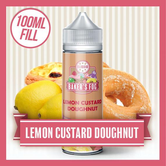 Baker's Fog Lemon Custard Doughnut Short Fill eliquid 100ml bottle