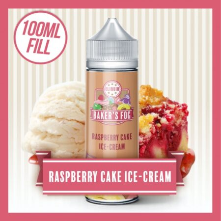 Baker's Fog Raspberry Ice Cream Cake Ice Cream Short Fill eliquid 100ml bottle