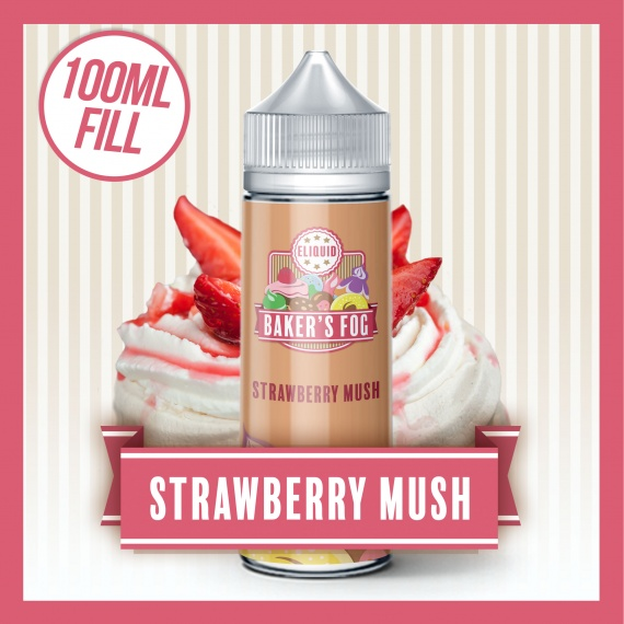 Baker's Fog Strawberry Mush 100ml eliquid