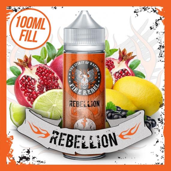 Fire Rebel Rebellion 100ml Shortfill eliquid bottle