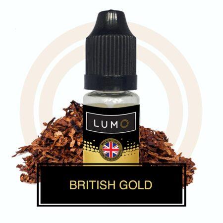 Lumo Liquids British Gold Tobacco eliquid 10ml bottle