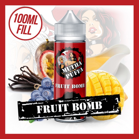 Mutha Puffa Fruit Bomb Short Fill eliquid 100ml bottle