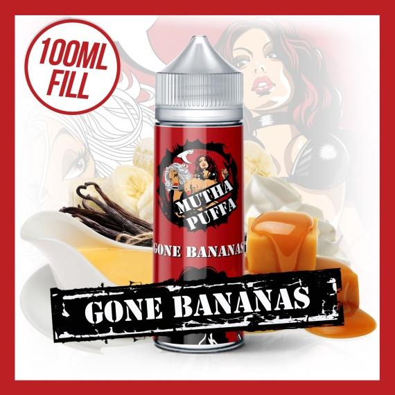 Mutha Puffa Gone Bananas 100ml eliquid short fill bottle