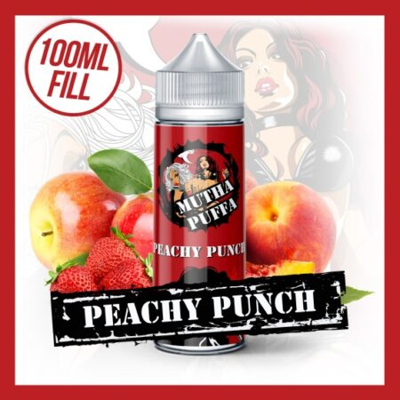 Mutha Puffa Peachy Punch 100ml eliquid short fill bottle